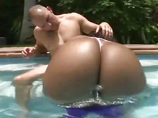 lusty dark whore with giant bottom drives giant