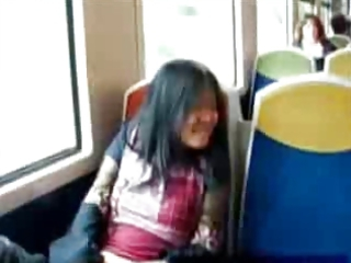 eastern  sensual masturbation on a train