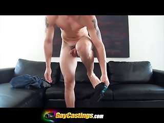gaycastings audition gone wrong male moans as he