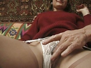 young inside strong cloth and nylons acquires her