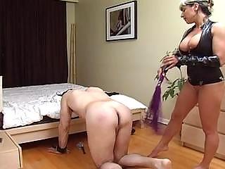 slutty whore beat the bondage penis