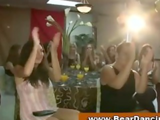 cfnm inexperienced celebration girls bunch