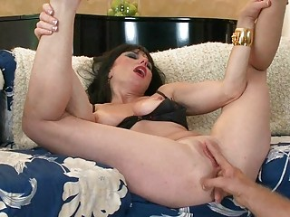 horny huge boobed lady devices her juicy whore