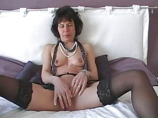 cougar with plastic cock does herself
