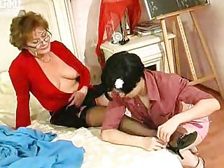 inexperienced angel kisses and sucks grownup chick