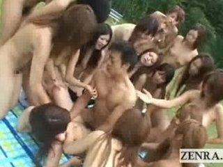 national exposed moment japan outdoor harem group