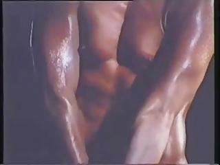 vintage chick - bodybuilder workout - londonlad