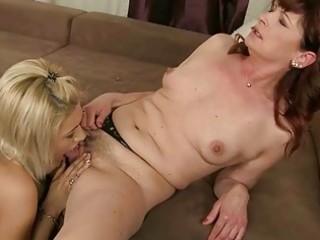 granny ginger worships young albino