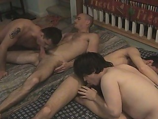 slutty gay two on two ass deed