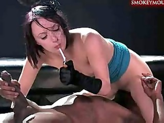 paige fox smoking a ebony dick 5
