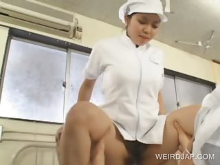 japanese doctor obtaining nailed uneasy