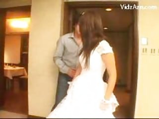 beautiful bride obtaining her kitty fingered
