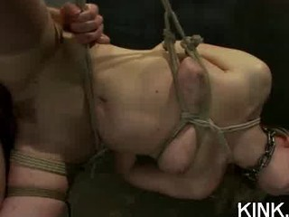 large tits, submissive housewife, dominated, bound