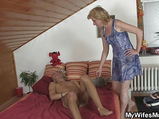 mother inside law finds him pushing dildo and