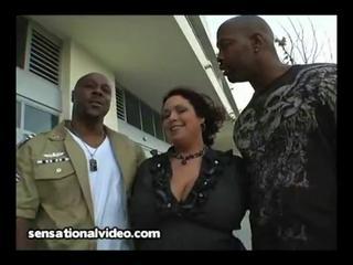 huge boob latino woman copulates 2 giant brown