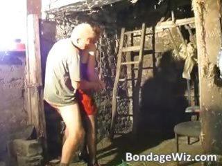 brunette gang bang men butt with strap part3