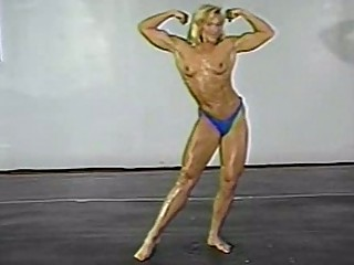 fitness models topless wrestling classic part 1
