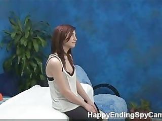 bashful teen seduces massage client caught on spy