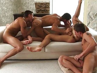 two by two hot looking gay guys having crazy