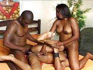 bisexual dudes pounding babe