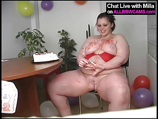 bbw bday candles inside cave fat bottom