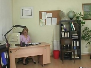 cougar workplace boss forces him copulate her