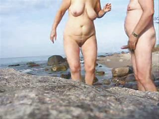 cougar duo porn on the beach-wear-tweed