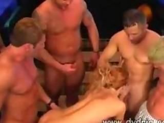 bunch  of slutty boys give wonderful pale bitch
