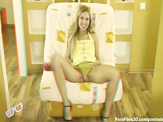 Hot blonde masturbator