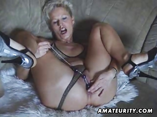 horny young woman devices and licks with facial