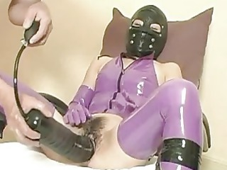 extreme slave fucked with a huge sex toy