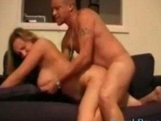 huge bossom mature babe licks penis later