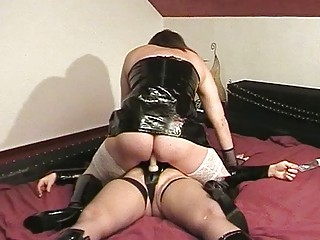 woman bangs fresh tranny