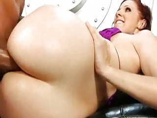 brunette with sweet large sloping clean bottom