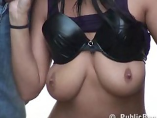 daring outside sex street threesome awesome