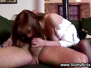 sweet girl takes her cave banged by granny boy