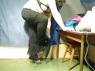 fat crossdresser young striptease and sperm