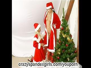 christmas flexible spandexgirls (clip)