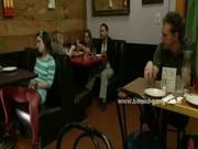 Teen slut caught masturbating in public