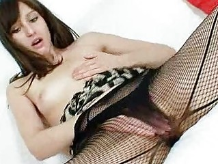 hot czech babe alice into fishnet stockings sm