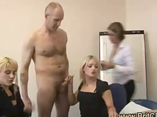 cfnm male sucked by 3 whores testing condoms