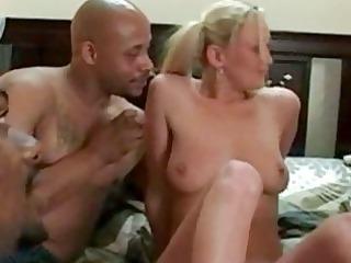 interracial bang with a blonde whore