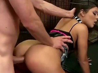 wet butt young obtains strong forced bottom