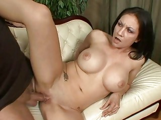 horny brunette woman screwed by good hung stag