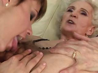 elderly playing dike fuck