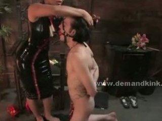 brunette eastern  housewife dominatrix torturing