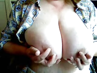 grownup giant breast on webcam