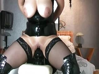 giant fucking big vibrator drilling fresh bitch