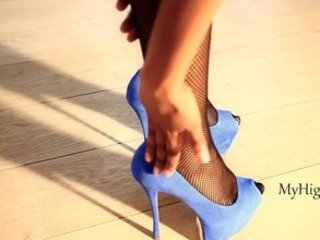 sweet peeptoe stiletto high shoes