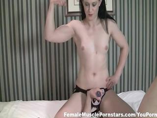 muscle brunette punishes her hapless boyfriend